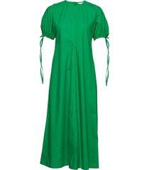 helakka solid dress maxi dress galajurk groen marimekko