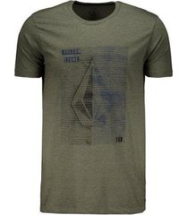 camiseta volcom silk long fit tone masculina