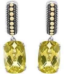 effy lemon quartz (7-7/8 ct. t.w.) earrings in sterling silver