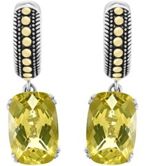 effy lemon quartz (7-7/8 ct. t.w.) earrings in sterling silver