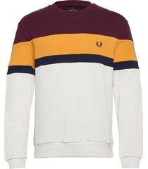 col.block sweatshirt sweat-shirt tröja brun fred perry