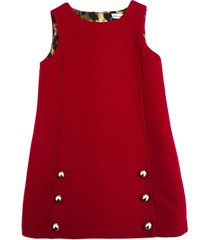 dolce & gabbana red double crepe dress