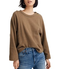 women's madewell shoulder button elbow patch top