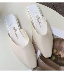 sandalias antideslizantes para mujer baotou-blanco