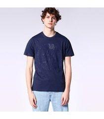 camiseta diesel t-joe-sq   masculino azul