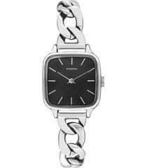 reloj analogo kate revolt silver black komono