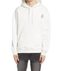 men's topman broken dreams hoodie, size large - white