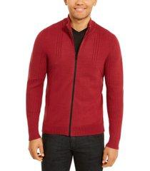 inc international concepts men's samuel zip-front cardigan, created for macy's