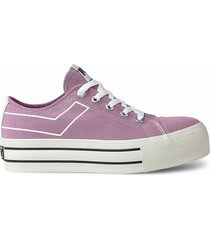 zapatilla violeta pony plataforma clasic ox canvas