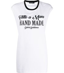 dolce & gabbana hand made print t-shirt - white