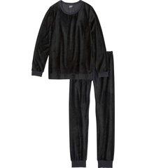 pigiama in ciniglia (nero) - bpc bonprix collection