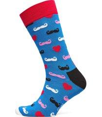 french edition sock moustache underwear socks regular socks blå happy socks