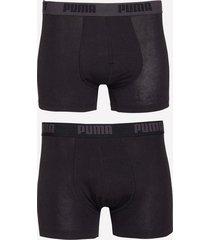 puma puma basic boxer 2p boxershorts black
