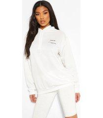 'wear me' slogan hoodie, white