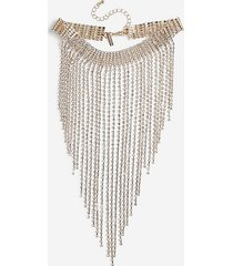 *crystal drape choker necklace - clear