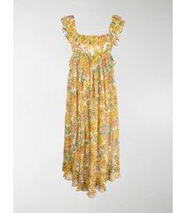 zimmermann poppy floral-print midi dress