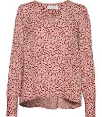 blouse ls blouse lange mouwen roze rosemunde