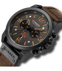 reloj deportivo hombre cronografo curren 8314 negro amarillo