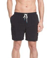 men's big & tall tommy bahama naples coast swim trunks, size 4xb - black