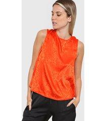 blusa naranja asterisco villareal