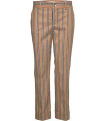 bella zeth pant pantalon met rechte pijpen bruin mos mosh