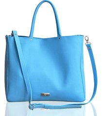 błękitna torba ze skóry