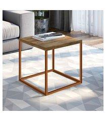 mesa lateral industrial artesano cube média vermont e cobre