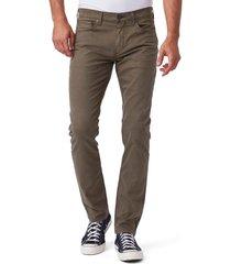 men's paige lennox slim fit twill pants, size 31 - brown