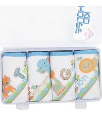toallitas babitas x 4 con estuche multiusos- azul animales