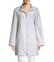 minerva cotton silk striped jacket