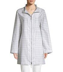 minerva cotton silk striped jacket