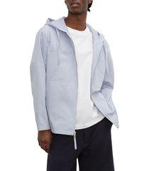 men's club monaco hooded jacket, size small - blue