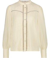 blouse met geplooide mouwen tamia  wit