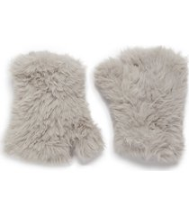 faux fur finglerless gloves