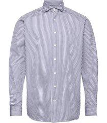 contemporary fit blue satin shirt skjorta business blå eton