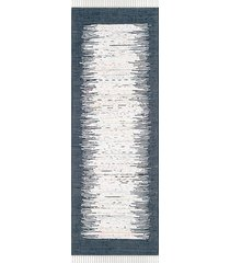 safavieh montauk ikat tie-dye rug - ivory navy - size 3' x 7'