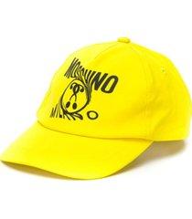 moschino kids boné com logo - amarelo