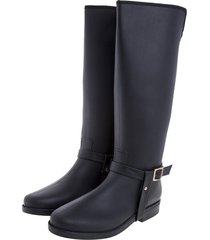 botas de lluvia impermeable golden stirrup bottplie - negro