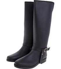 botas de lluvia impermeable golden stirrup bottplie - negro