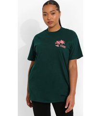 plus palm springs t-shirt, dark green