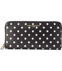 polka dot continental wallet