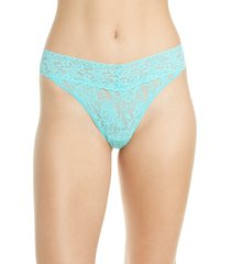 women's hanky panky original rise thong, size one size - blue