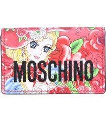 moschino wallet with logo