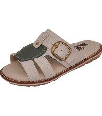 sandália infantil raniel calçados papete chinelo com regulagem fivela gelo/verde