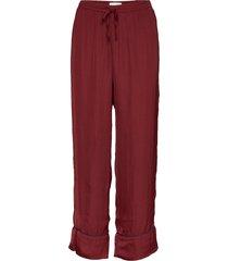 dreamwell satin crop pants pyjamasbyxor mjukisbyxor röd gap