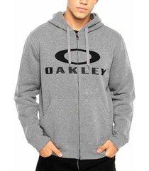 moletom masculino oakley 3.d logo com ziper