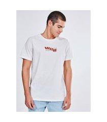 camiseta off-white com estampa geométrica
