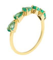 anel feminino ligne esmeralda - verde