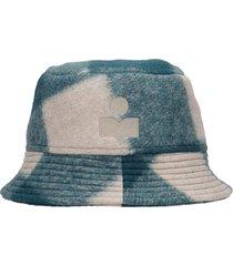 isabel marant hakey hats in green wool