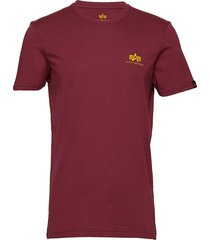 basic t small logo t-shirts short-sleeved röd alpha industries